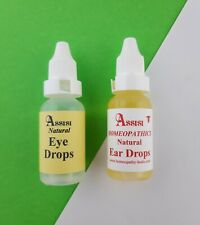 Natural Eye and Ear Drops Kit Dogs Puppies Sore Irritated Eyes Ears  Assisi
