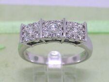 Brillant Ring 585 Weißgold 14Kt Gold 24 Brillanten total 0,45ct Wesselton