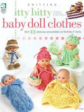 "Itty Bitty Baby Doll Clothes Pattern Tricot - 5 ""dolls"