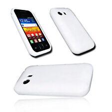 Silikon TPU Cover Case Case Weiß für Samsung S5360 Galaxy Y + Displayschutzfolie