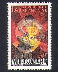 France 1982 Blacksmith/Forge/Handicrafts/Metalwork/Metals/Craft/Art 1v (n36957)