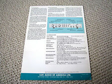 Luxman C-12 pre-amplifier brochure catalogue