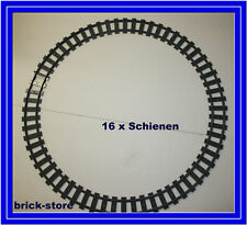 Lego City/ferrocarril raíles curvadas 16 unidades (7897.7898,7938,7939.3677,10219)