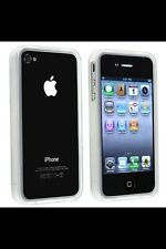 Clear White Bumper Case For iPhone 4