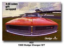 24x36 1969 DODGE CHARGER R/T MOPAR ART BROCHURE AD POSTER 440 426 HEMI DAYTONA
