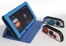 Blue PU leather case for Nintendo Switch   with 2  Aluminum alloy Joy-Con Case