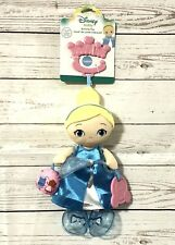 Clip-On Disney Baby Cinderella Plush Stuffed Animal Activity Toy Doll Crib NEW