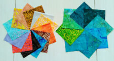 "Batik Solo fabrics 80 pieces 5"" squares, Charm Packs for patchwork quilts"