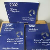 2002 Ford  Crown  Victoria, Grand Marquis Volume 1, 2,and wiring  manuals .