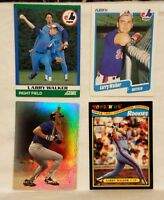 Pre-owned ~ Larry Walker Baseball Card Lot of 4 (1991, 1990, 2000) Expos Rockies