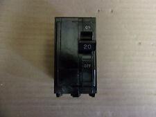 SQUARE D QO 2 pole 20 amp 120/240v QO220 Circuit Breaker Black FLAW