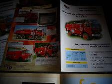 Ancien depliant Camion de Pompier Renault & Berliet équipé avec Salamandre
