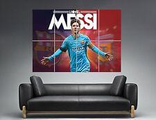 LIONEL MESSI BARCELONA-BARCELONA FC FUßBALL Wand Kunst Plakat groß format A0