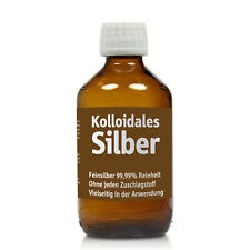 Kolloidales Silber 250ml, reinstes Silberwasser, 100ppm in Apotheker-Glasflasche