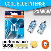 FIAT PUNTO EVO 08-> [Number Plate Light Bulbs] W5W (501) Osram Halogen Cool Blue