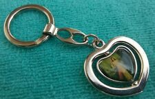 Catholic Key Chain Our Lady Divine Jesus Appendage from Medjugorje In Heart