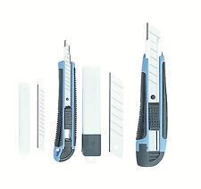 Abbrech-Messer-Set 4-tlg Abbrechmesser Cuttermesser 2Stk. mit Ersatzklingen