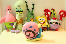 6Pcs Plush SpongeBob Squarepants&Patrick/Krabs/Squidward/Gary/Plankton Toys New