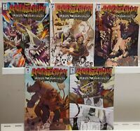 TMNT Bebop & Rocksteady Hit the Road 1-5 Covers B Complete Set Series Run Lot 1