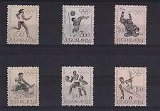 JUGOSLAVIA 1968 SERIE COMPLETA 6 VAL OLIMPIADI MESSICO UNIFICATO N 1183/8 MNH **