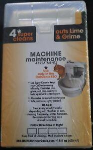 CatGenie 120 Machine Maintenance Cartridge Cleans Out Lime & Grime 4 Treatments