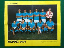 RT61 Poster Clipping 46x37 cm Intrepido FOTO SQUADRA NAPOLI 1974/75 TEAM CALCIO