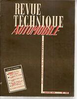 REVUE TECHNIQUE AUTOMOBILE 141 RTA 1958 RENAULT 2T5 MOTEUR FREGATE (COLORALE)
