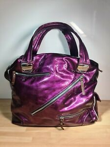 Pauric Sweeney distressed metallic Purple Shoulder Bag