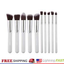 10Pcs Cosmetic Makeup Brushes Tools Soft Powder Foundation Blending Brushes USA
