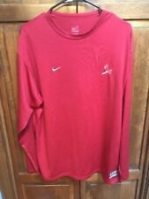 Nike Team St. Louis Cardinals MLB Fit Dry Long Sleeve Shirt Crew Neck Red Men L