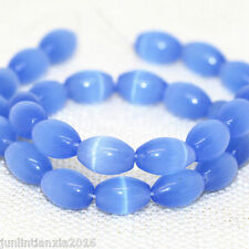 New 8x12mm Sky Blue Mexican Opal Gemstone Rice Loose Bead 13''