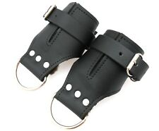 Pair of Quality Heavy Duty Strict Leather Suspension Cuffs with Fur Lining.