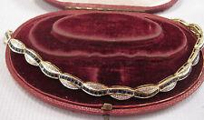 18 Carat Yellow Gold VS1 Fine Diamond Bracelets