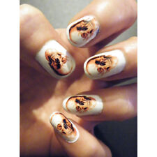 Skull Nails Goth Halloween Steampunk Cosplay Art Water Decal Stickers Polish