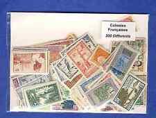 Colonies Françaises avant indépendance 200 timbres différents