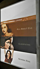 4 Dvd Set of 3 Award Winning Dramas All About Eve Norma Rae Cleopatra