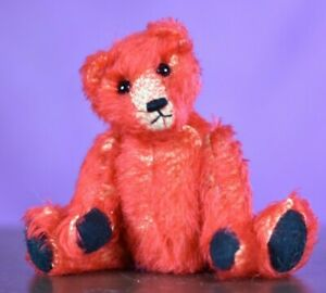 Ruskin Bear Red by Lesley Simpson Limited Edition Tagged