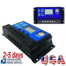 <US Stock>30A Solar Charger Controller Panel Battery Intelligent Regulator CE