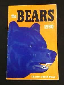 1950 CHICAGO BEARS MEDIA GUIDE Yearbook GEORGE HALAS Press Book Program NFL AD