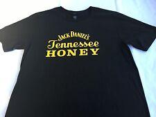 JACK DANIEL'S Women's Black Tennessee Honey Tee Shirt Gold Letters Size Medium