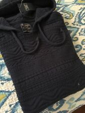 NWT Abercrombie & Fitch A&F Blue Pullover Hoodie L Large Hipster
