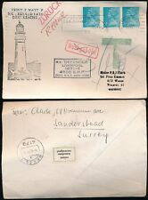 MARITIME GB 1971 GERMANY REFUSE LABEL...LIGHTHOUSE + SHIP DEFENDER + TAXE