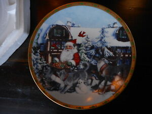 Lenox The Magic of Christmas Plate 1994 A2792 Limited Edition Santa Wolves ?