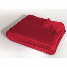 Couvertures lavable en machine rouges polaire pour le lit
