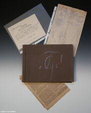 Konvolut Guestphalia Münster + Brandenburgia (Album + Papier)...um 1920 bis 1922