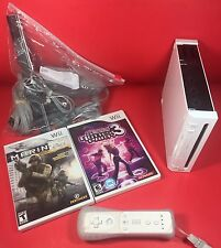 NINTENDO WII CONSOLE WHITE COMPLETE FREE SHIPPING! NO RESERVE