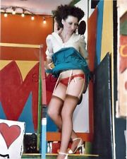 Org Amateur Semi Nude Large (8 x 10) Photo- Funhouse Fun- Skirt- Stockings- #7