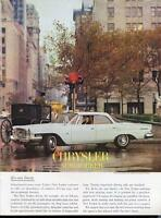 1962 Chrysler PRINT AD features White New Yorker Sedan Four door great detailed