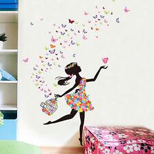Fairies Ballerina Dance Girl Wall Art Vinyl Stickers Ballet Girls Mural Decal