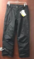 NWT Pulse Boy's Style 25519 Junior Black Cargo Snow Pants Sz Large